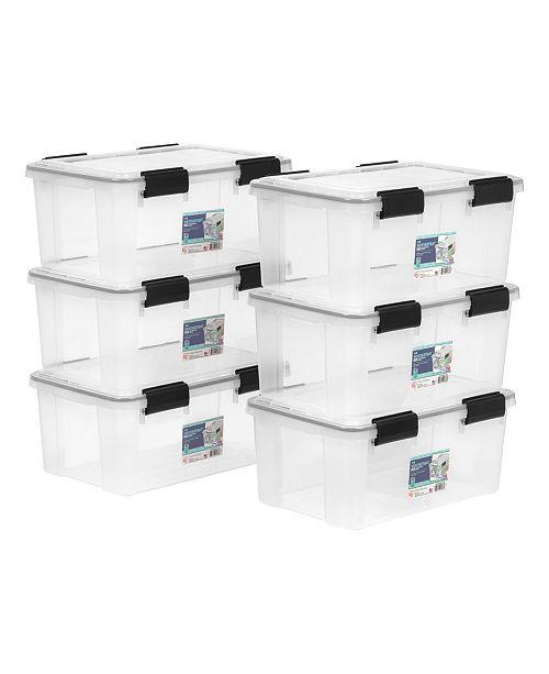 IRIS USA Iris 19 Quart Weather tight Storage Box, 6 Pack