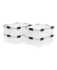 Iris 41 Quart Weather tight Storage Box, 4 Pack