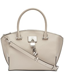 DKNY Elissa Top-Zip Pebble Satchel, Created for Macy's