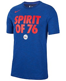 Nike Men's Philadelphia 76ers Team Essential Local Slogan Slub T-Shirt