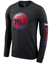424b71baa11 Nike Men's Philadelphia 76ers Dry Mezzo Logo Long Sleeve T-Shirt