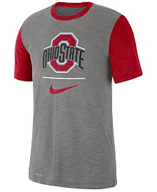 Nike Men's Ohio State Buckeyes Dri-FIT Slub Raglan T-Shirt