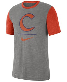 Nike Men's Clemson Tigers Dri-FIT Slub Raglan T-Shirt