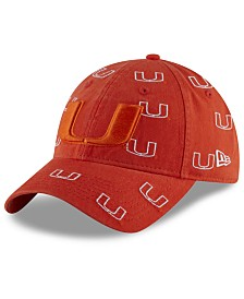 New Era Women's Miami Hurricanes Logo Scatter Cap
