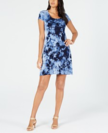 Karen Kane Tie-Dyed A-Line Dress