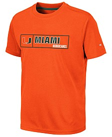Colosseum Big Boys Miami Hurricanes Boxed Logo Polyester T-Shirt