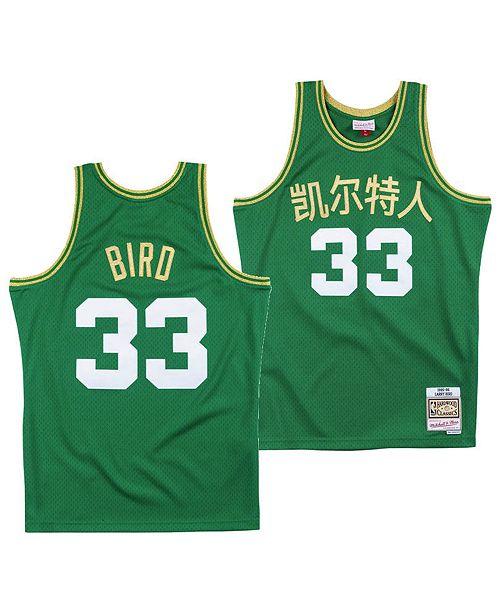 big sale 763ed 002ae Mitchell & Ness Men's Larry Bird Boston Celtics Chinese New ...