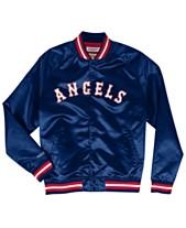huge selection of 6adaa c0894 Mitchell   Ness Men s Los Angeles Angels Lightweight Satin Jacket