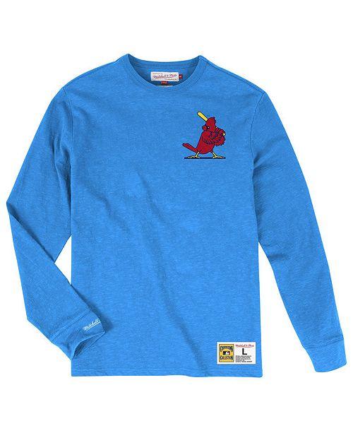 Mitchell & Ness Men's St. Louis Cardinals Slub Long Sleeve T-Shirt