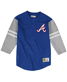 Mitchell & Ness Men's Atlanta Braves Heyday Henley T-Shirt