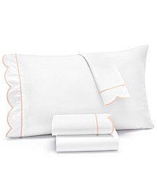 Signature Scallop 4-Pc. King Sheet Set, 400 Thread Count 100% Cotton Percale, Created for Macy's