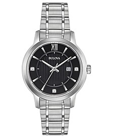 Women's Diamond-Accent Stainless Steel Bracelet Watch 32mm, Created for Macy's