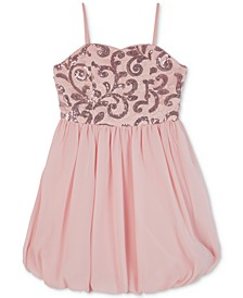 Big Girls Sequin Lace Bubble Dress