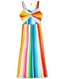 Big Girls Rainbow Stripe Maxi Dress
