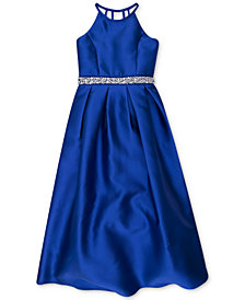 Speechless Embellished Satin Maxi Dress, Big Girls