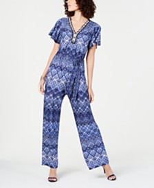 NY Collection Petite Flutter-Sleeve Jumpsuit