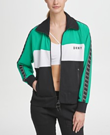 DKNY Sport Colorblocked Logo-Stripe Track Jacket, Created for Macy's