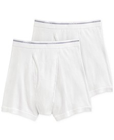 Men's Big & Tall 2-Pk. Lightweight Cotton Boxer Briefs