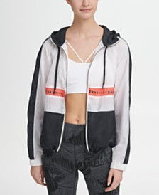 DKNY Sport Colorblocked Logo Hooded Windbreaker, Created for Macy's