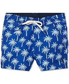 Polo Ralph Lauren Baby Boys Traveler Polo Bear Swim Trunks