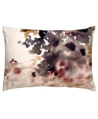 Luli Sanchez By Bryony Purple/White Floral Poly Throw Pillow 14