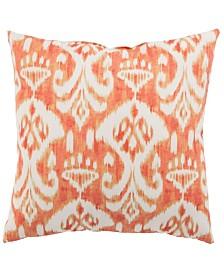 "Jaipur Living Rivoli Fresco Orange/White Ikat Indoor/ Outdoor Throw Pillow 18"""
