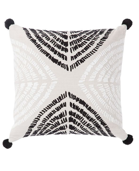 "Jaipur Living Nikki Chu By Angelika Black/Silver Textured Down Throw Pillow 22"""
