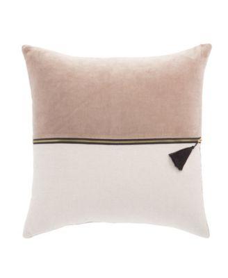 """Nikki Chu By Kirat Textured Poly Throw Pillow 22"""""""