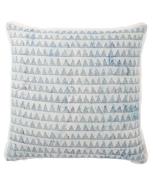 Jaipur Living Yonah Handmade Geometric Blue/White Down Throw Pillow 22""
