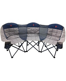 Moon phase Home-Away Heavy Duty Triple Loveseat 900 Pounds Capacity Folding Camp Chair