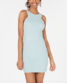 Juniors' Glitter-Knit Bodycon Dress