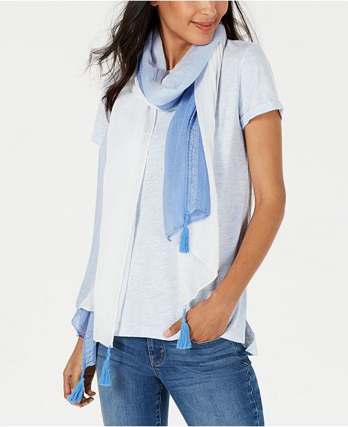 INC International Concepts I.N.C. Ombré Tissue-Weight Wrap, Created for Macy's