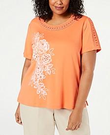 Plus Size Martinique Short-Sleeve Top