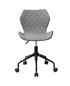 Techni Mobili Deluxe Modern Office Armless Task Chair