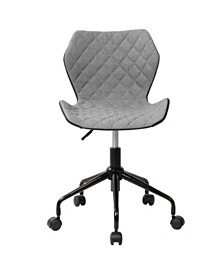 Techni Mobili Deluxe Modern Office Armless Task Chair, Quick Ship