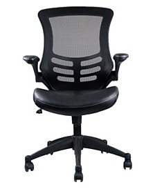 Techni Mobili Stylish Mid-Back Mesh Office Chair, Quick Ship