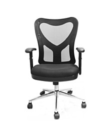 Techni Mobili High Back Mesh Office Chair, Quick Ship
