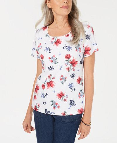 Karen Scott Sidney Sachet Scoop-Neck Top, Created for Macy's