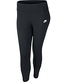 Plus Size Sportswear Mesh-Trimmed Leggings