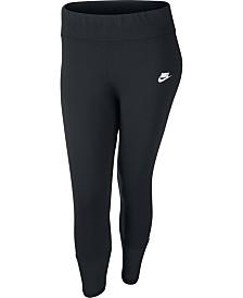 Nike Plus Size Sportswear Mesh-Trimmed Leggings