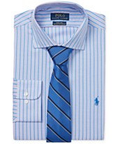 717650520 Polo Ralph Lauren Men s Classic Regular Fit Easy Care Stretch Striped Dress  Shirt