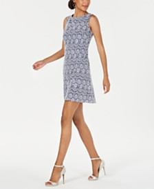 Jessica Howard Petite Sleeveless Lace Shift Dress