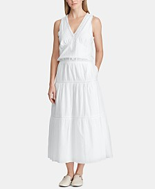 Lauren Ralph Lauren A-Line Cotton Dress, Created for Macy's