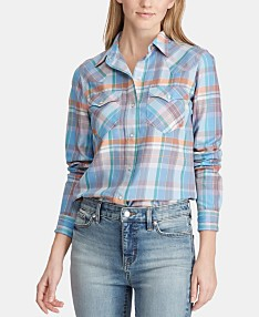 45098a26 Plaid Shirts For Women: Shop Plaid Shirts For Women - Macy's