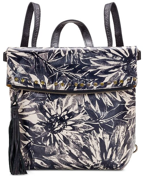Patricia Nash Sunflower Print Luzille Convertible Backpack