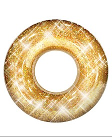 "Pool Candy Glitter Pool Tube 48"" - Gold Glitter"