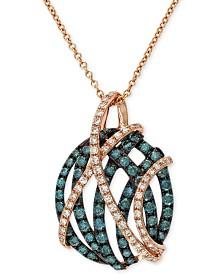 "EFFY® Diamond 18"" Pendant Necklace (9/10 ct. t.w.) in 14k Rose Gold"