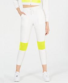 Neon-Mesh Pocket Joggers