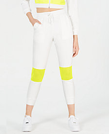 Waisted Neon-Mesh Pocket Joggers