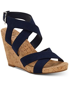 INC Women's Landor Strappy Wedge Sandals, Created for Macy's